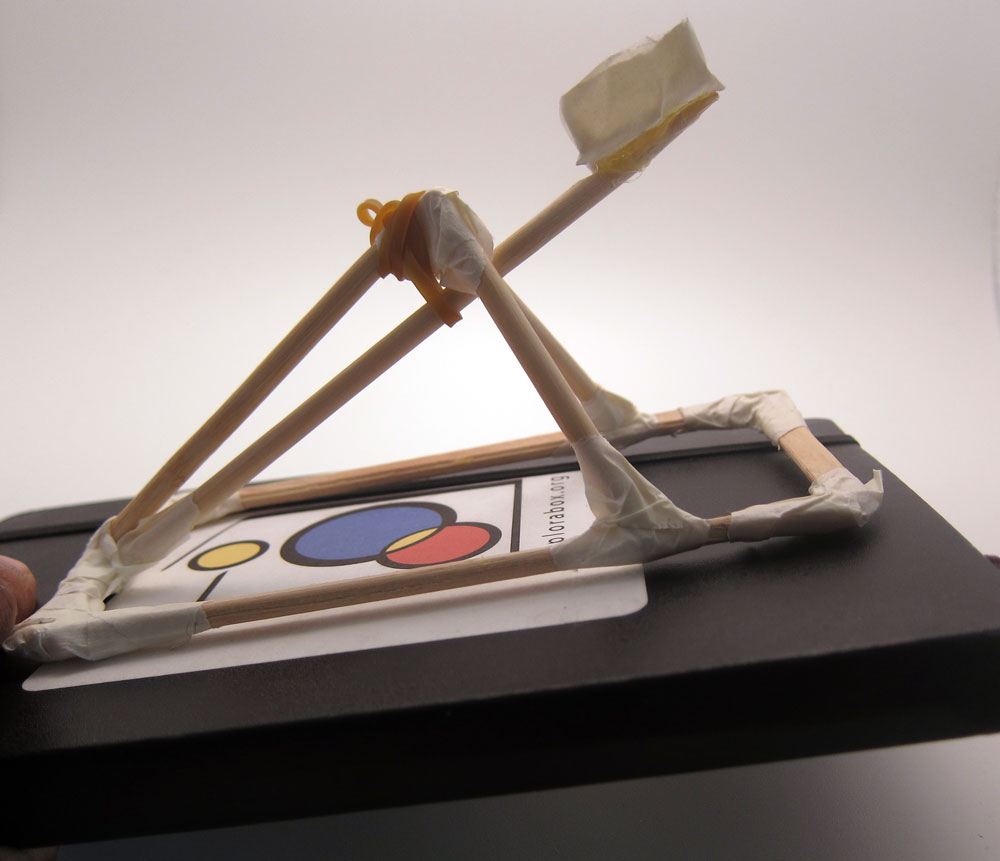How to build a catapult: launching!