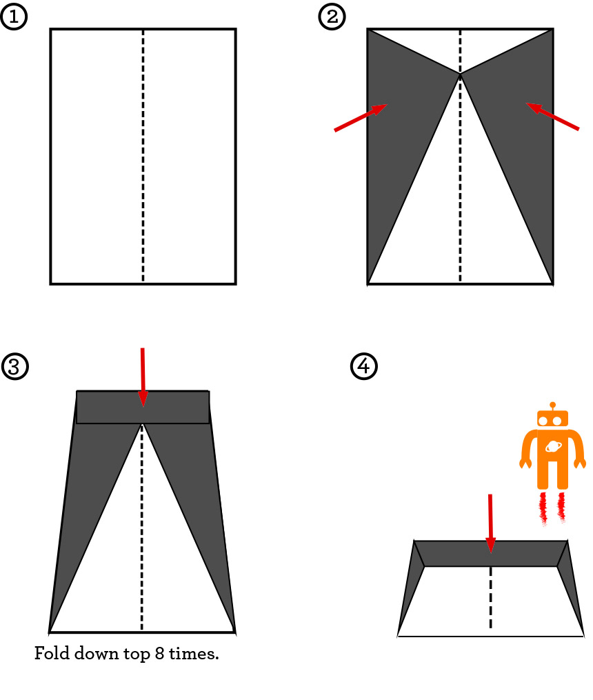 first folding instructions for the world's best paper airplane