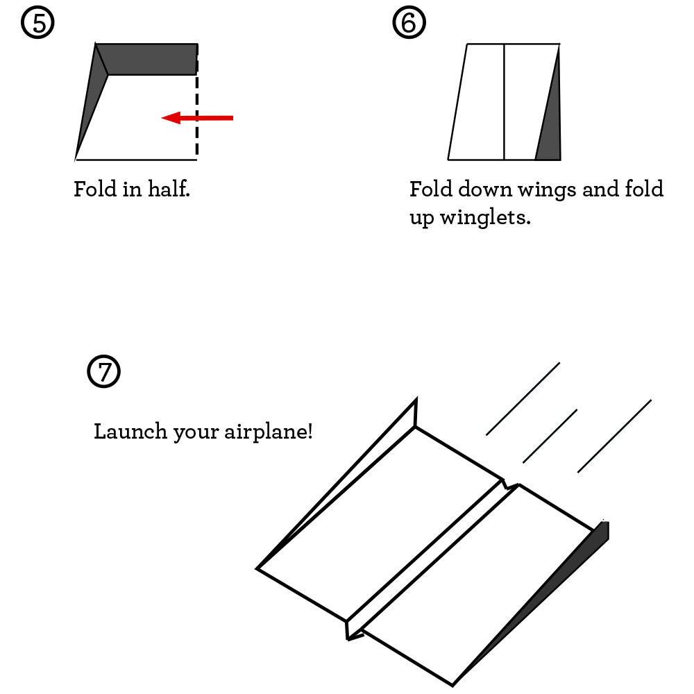final folding instructions for the world's best paper airplane